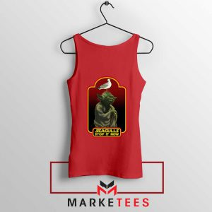 Yoda Seagull Stop It Now Red Tank Top