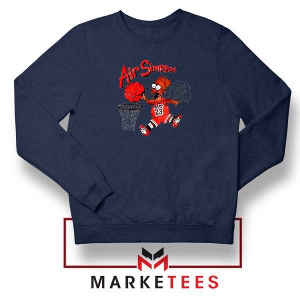 Air Bart Simpson Black Sweater