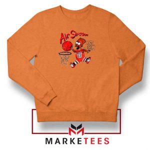 Air Bart Simpson Orange Sweater