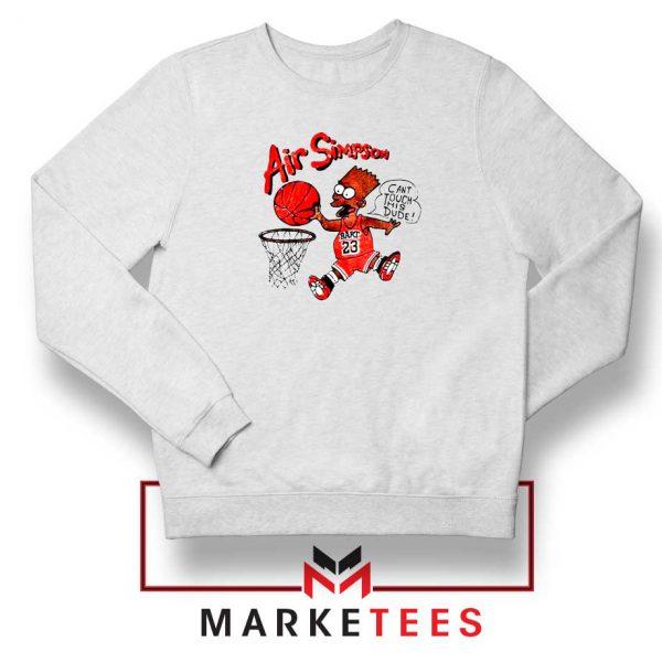 Air Bart Simpson White Sweater
