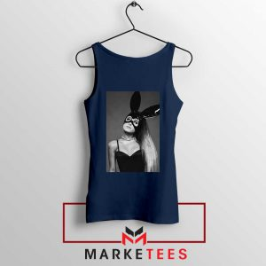 Ariana Grande Dangerous Woman Navy Blue Tank Top