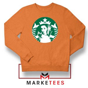 Ariana Grande Music Orange Sweater