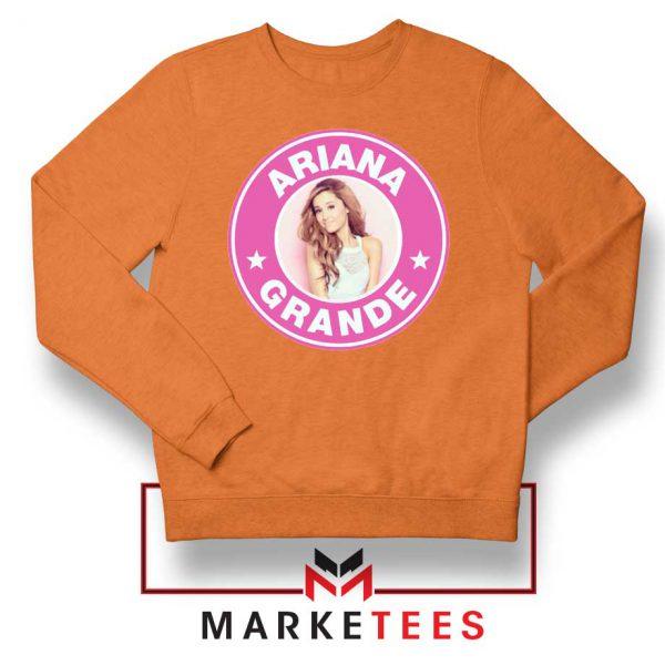 Ariana Grande Pink Starbucks Orange Sweatshirt