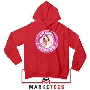Ariana Grande Pink Starbucks Red Hoodie