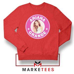 Ariana Grande Pink Starbucks Red Sweatshirt