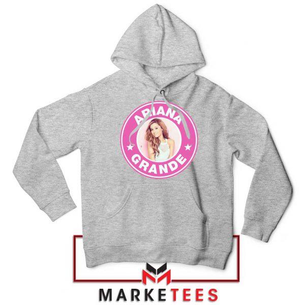Ariana Grande Pink Starbucks Sport Grey Hoodie