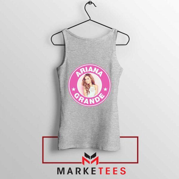 Ariana Grande Pink Starbucks Sport Grey Tank Top