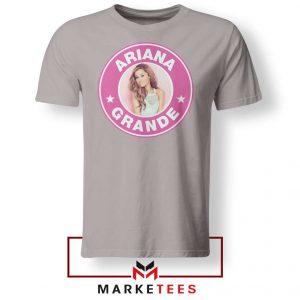 Ariana Grande Pink Starbucks Sport Grey Tee Shirt