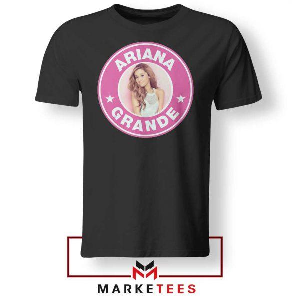 Ariana Grande Pink Starbucks Tee Shirt