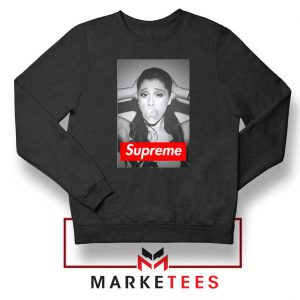 Ariana Grande Supreme Parody Black Sweatshirt