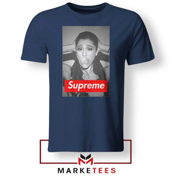 Ariana Grande Supreme Parody Navy Blue Tee ShirtS