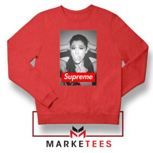 Ariana Grande Supreme Parody Red Sweatshirt