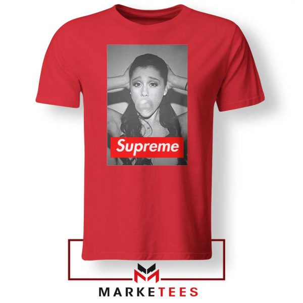 Ariana Grande Supreme Parody Red Tee ShirtS