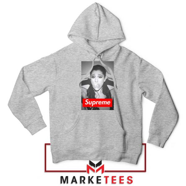 Ariana Grande Supreme Parody Sport Grey Hoodie