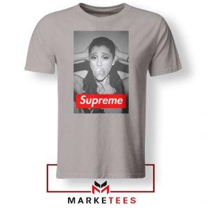 Ariana Grande Supreme Parody Sport Grey Tee ShirtS