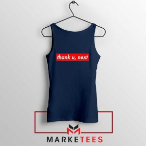 Ariana Grande Thank U Next Lyrics Navy Blue Tank Top