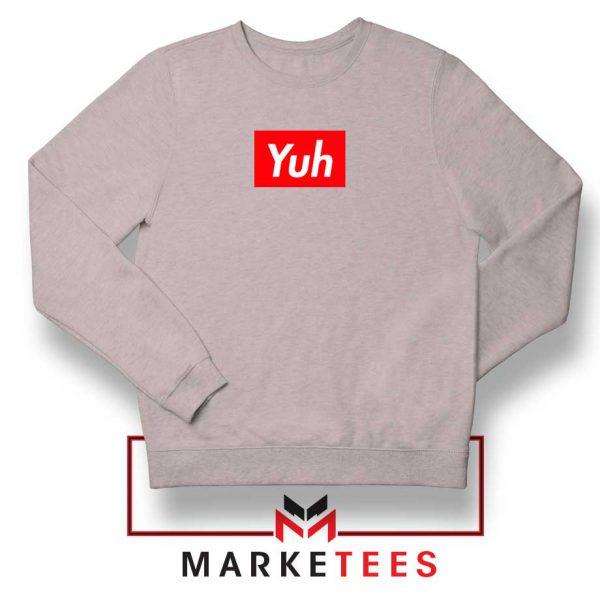 Ariana Grande Yuh Music Sport Grey Sweater