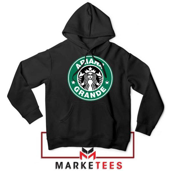 Ariana Starbucks Parody Black Hoodie