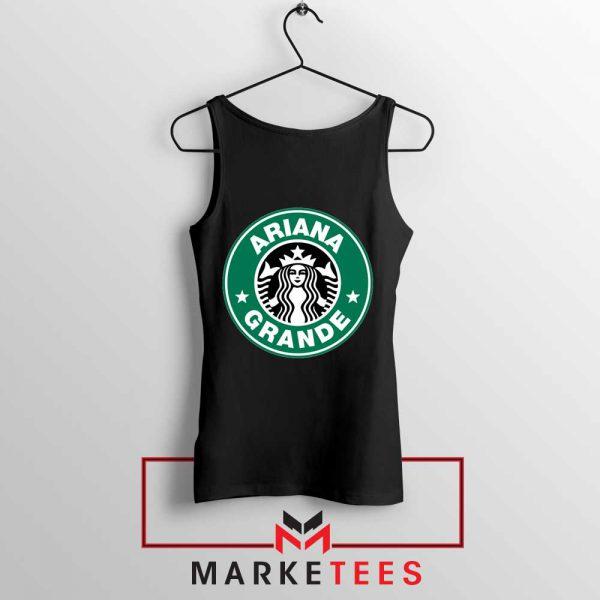 Ariana Starbucks Parody Black Tank Top