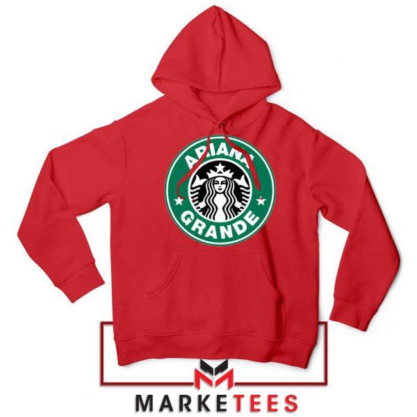 Ariana Starbucks Parody Red Hoodie