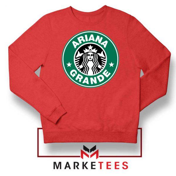 Ariana Starbucks Parody Red Sweatshirt