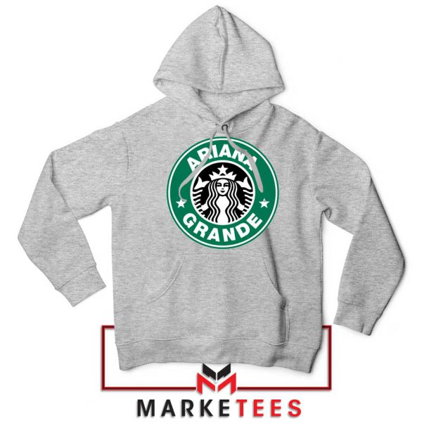 Ariana Starbucks Parody Sport Grey Hoodie