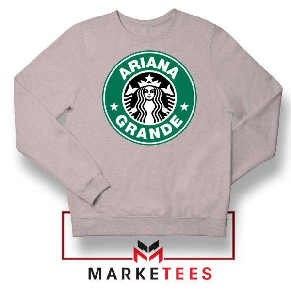 Ariana Starbucks Parody Sport Grey Sweatshirt