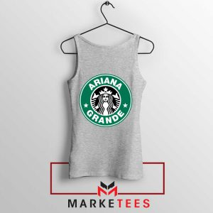 Ariana Starbucks Parody Sport Grey Tank Top
