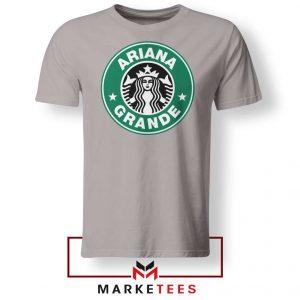 Ariana Starbucks Parody Sport Grey Tee Shirt