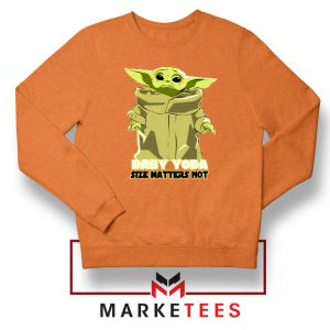 Baby Yoda Size Matters Not Orange Sweater