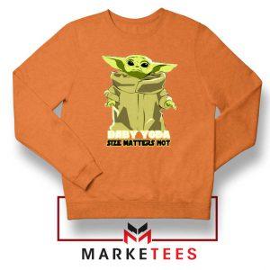 Baby Yoda Size Matters Not Orange Sweater