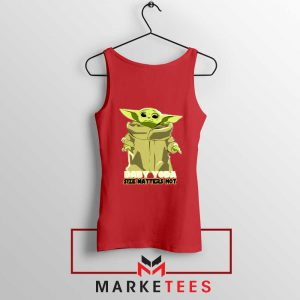 Baby Yoda Size Matters Not Red Tank Top