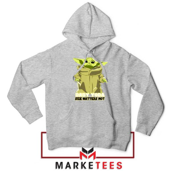 Baby Yoda Size Matters Not Sport Grey Hoodie