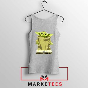 Baby Yoda Size Matters Not Sport Grey Tank Top