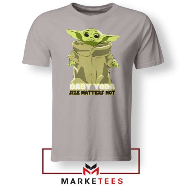 Baby Yoda Size Matters Not Sport Grey Tee Shirt