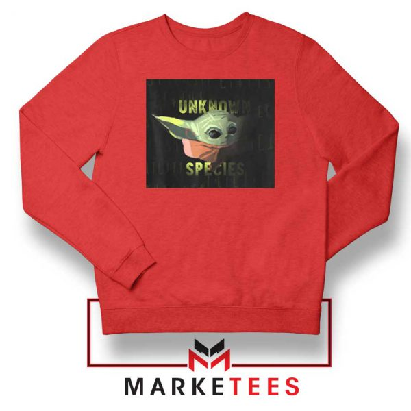 Baby Yoda Unknown Species Red Sweater