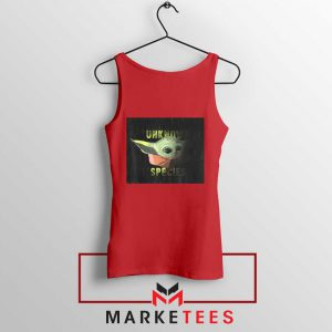 Baby Yoda Unknown Species Red Tank Top