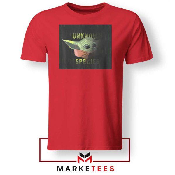 Baby Yoda Unknown Species Red Tee Shirt