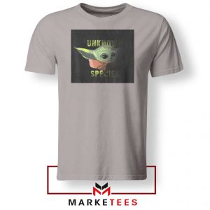 Baby Yoda Unknown Species Sport Grey Tee Shirt