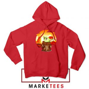 Baby Yoda Yiddle Red Hoodie