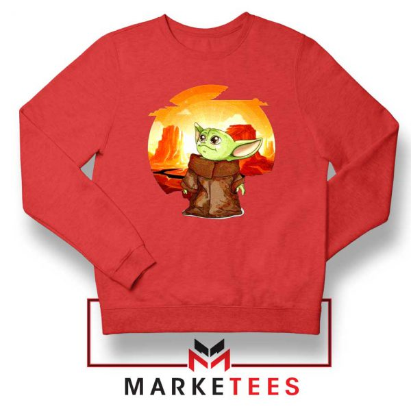 Baby Yoda Yiddle Red Sweatshirt