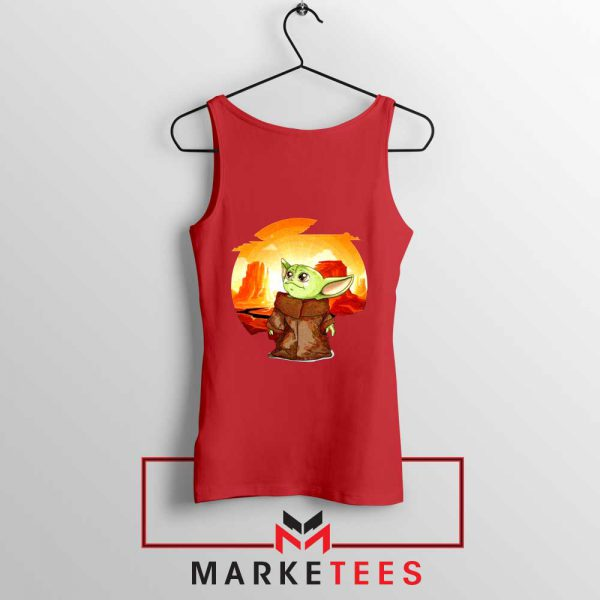 Baby Yoda Yiddle Red Tank Top