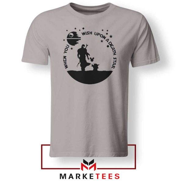 Baby Yoda and The Mandalorian Grey Tee Shirt