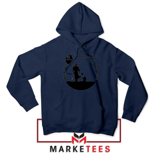 Baby Yoda and The Mandalorian Navy Blue Hoodie