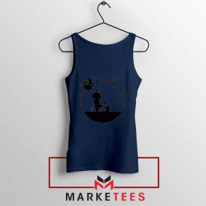 Baby Yoda and The Mandalorian Navy Blue Tank Top