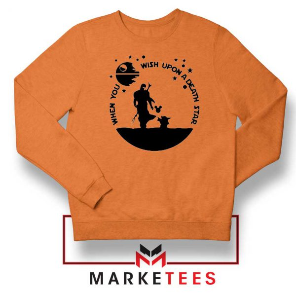Baby Yoda and The Mandalorian Orange Sweatshirt
