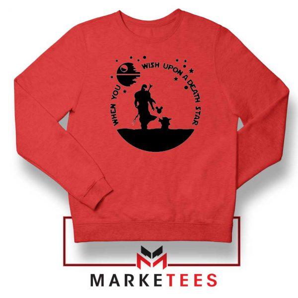 Baby Yoda and The Mandalorian Red Sweatshirt