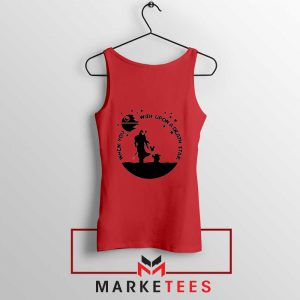 Baby Yoda and The Mandalorian Red Tank Top