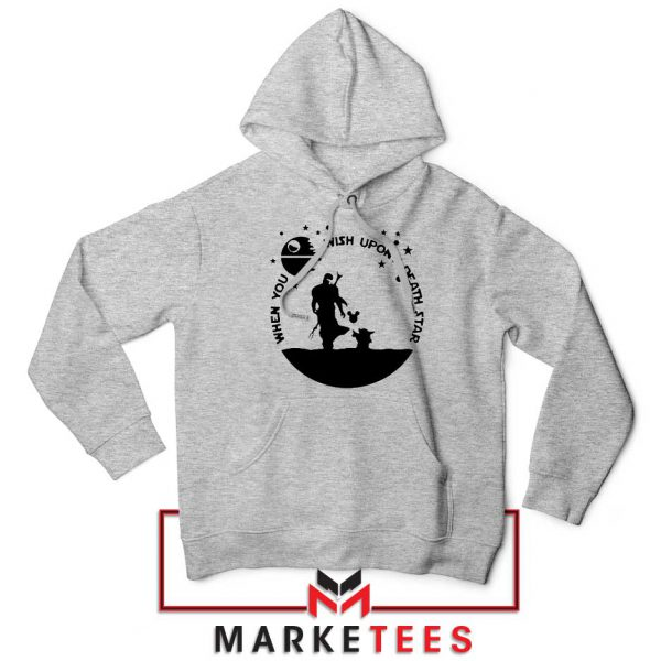 Baby Yoda and The Mandalorian Sport Grey Hoodie