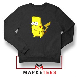 Bart Pikachu Black Sweater